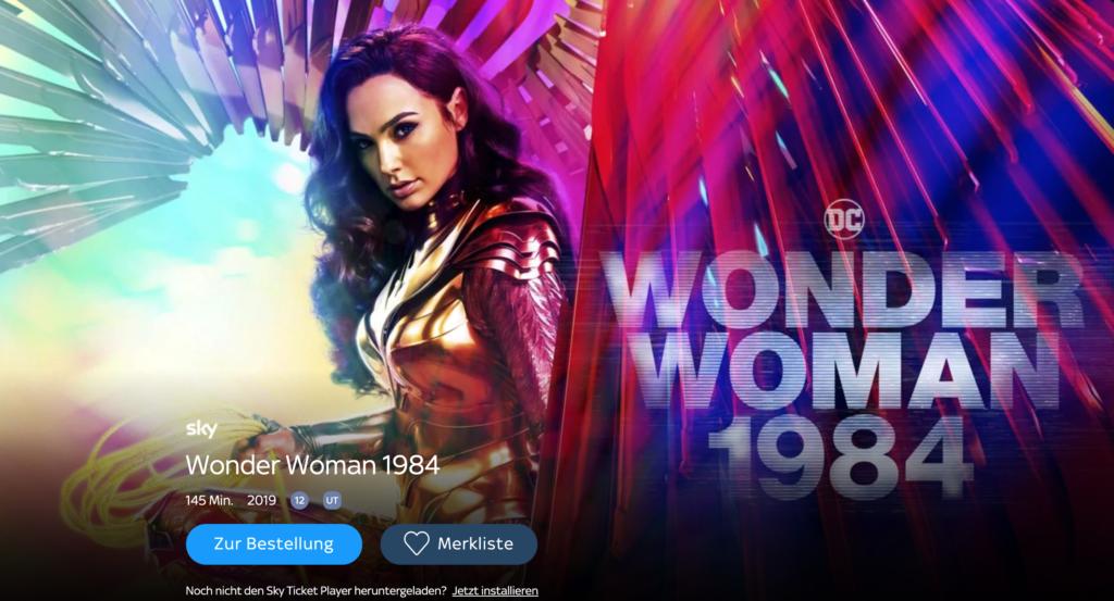 Wonder Woman bei Sky Ticket