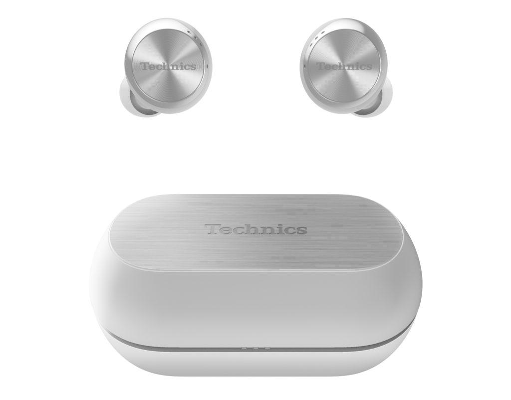 Der Technics-Tru-Wireless-In-Ear-Kopfhörer EAH-AZ70W in Silber