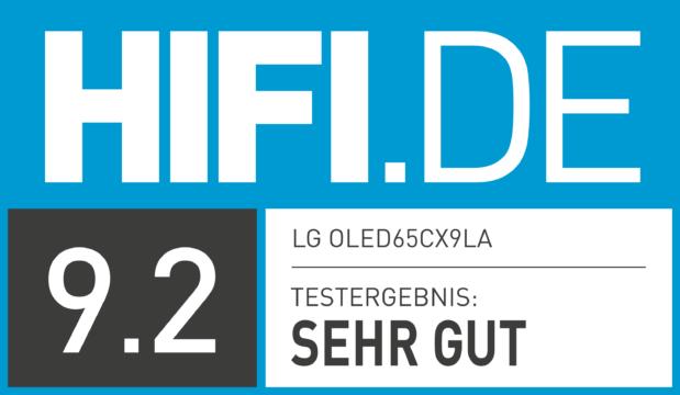 HIFI.DE Testsiegel für LG CX