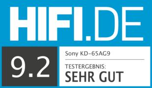 HIFI.DE Testsiegel für Sony AG9 im Test: Der Sony OLED aus der Master Series – Ein Meisterstück?
