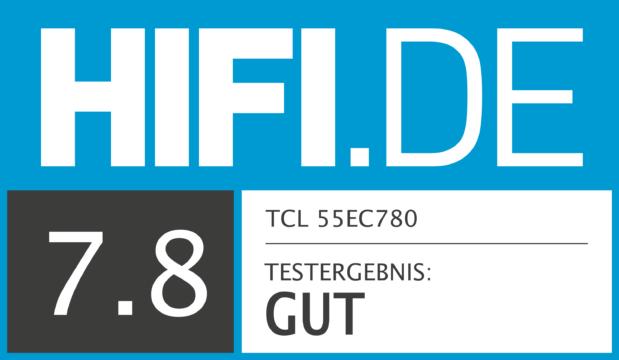 HIFI.DE Testsiegel für TCL 55EC780