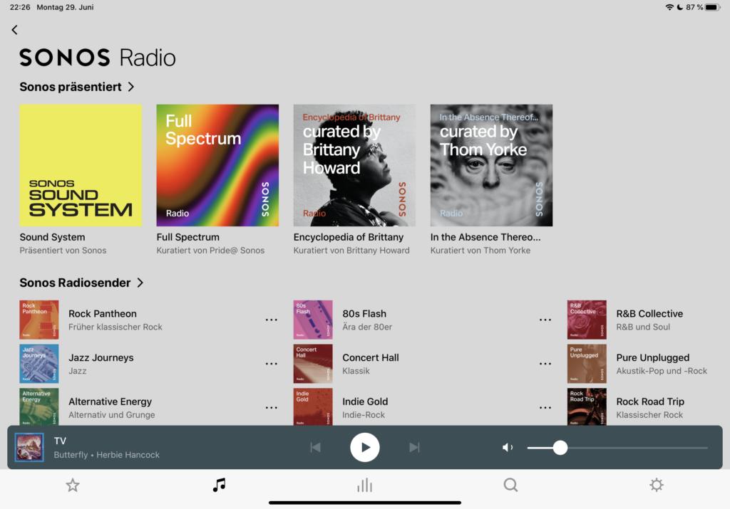 Sonos Radio Genres