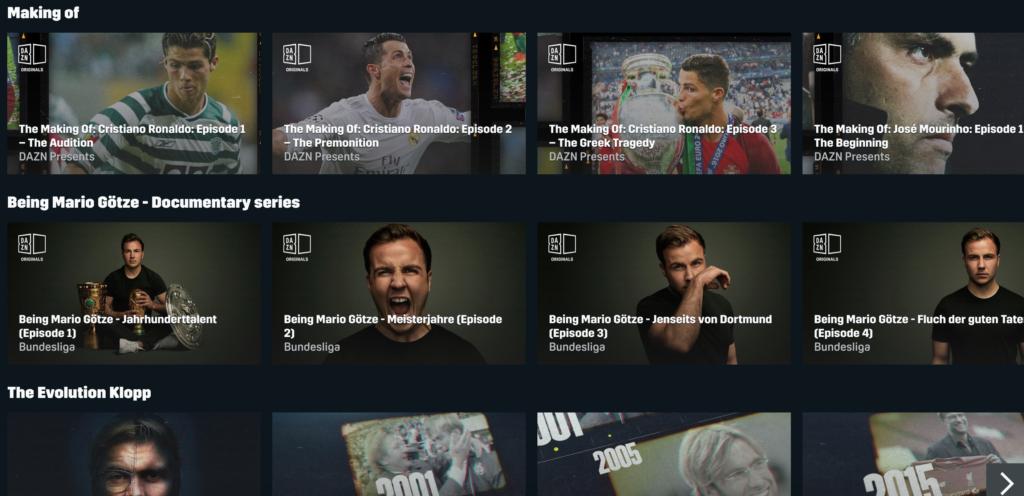 Neben Sportübertragungen hat DAZN inzwischen auch einige hochwertige Dokumentationen im Angebot. |Bild: DAZN