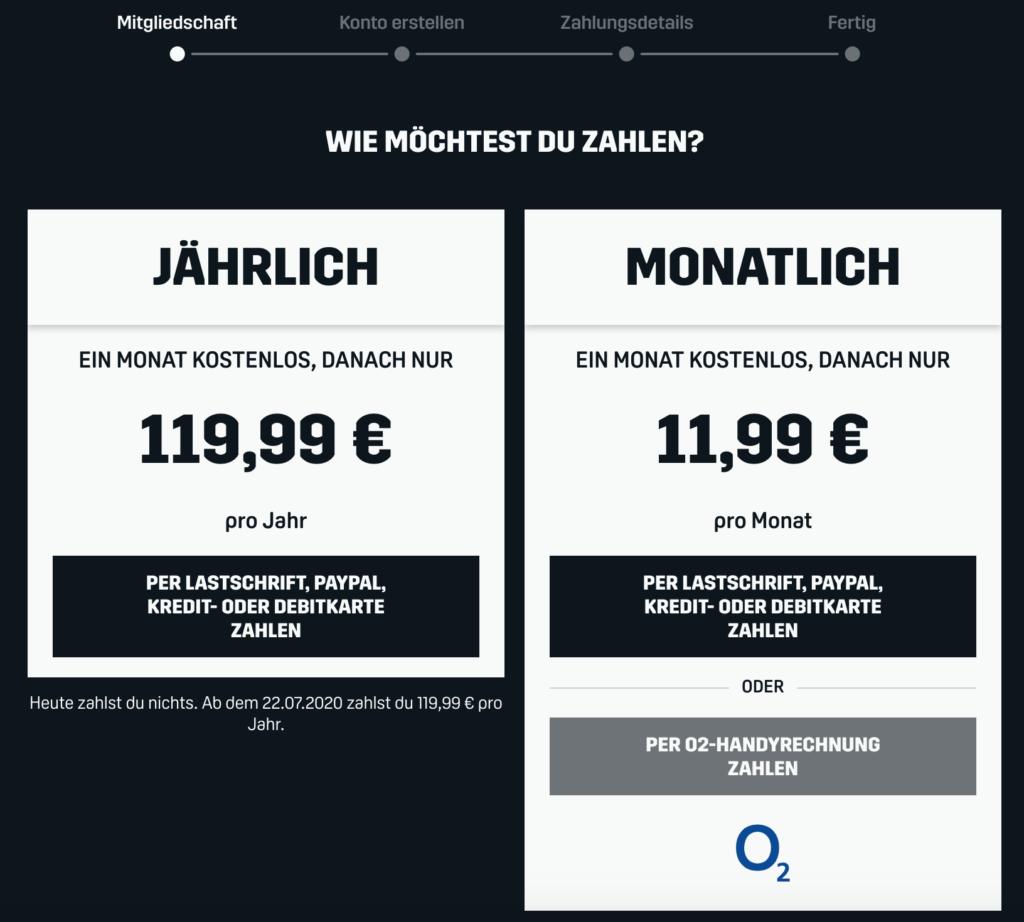 Die Kosten für DAZN können sich definitiv sehen lassen. | Bild: DAZN