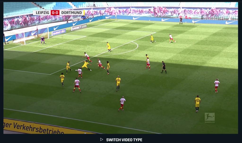 Über den Player lässt sich mit wenigen Klicks zwischen Highlights und gesamten Spielen hin- und herwechseln. |Bild: DAZN