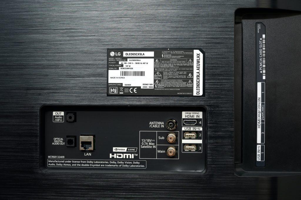 Anschluesse beim OLED CX von LG