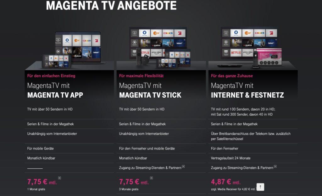 MagentaTV Preise