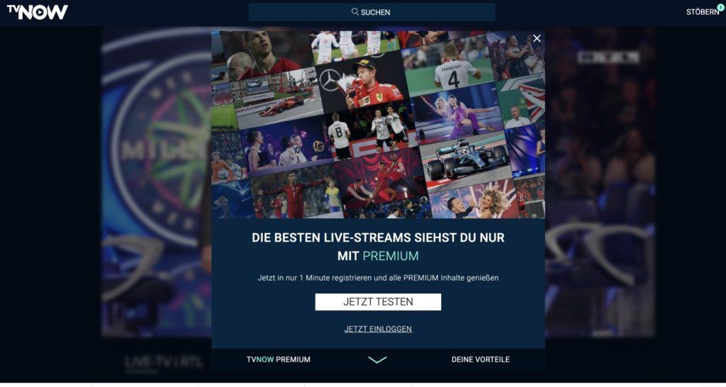RTL im Livestream TV Now