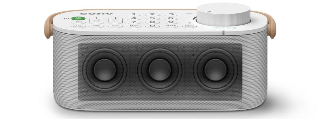 Ein Blick auf die drei Lautsprecher-Chassis des Sony SRS-LSR200