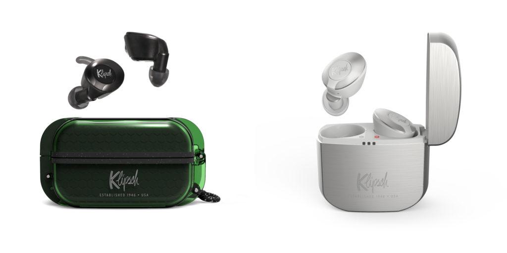 Klipsch T5 True Wireless Sport in Grün und Klipsch T5 True Wireless in Silber