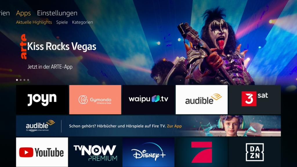 In puncto App-Auswahl kann sich der Fire TV Cube durchaus sehen lassen. | Bild: HIFI.DE