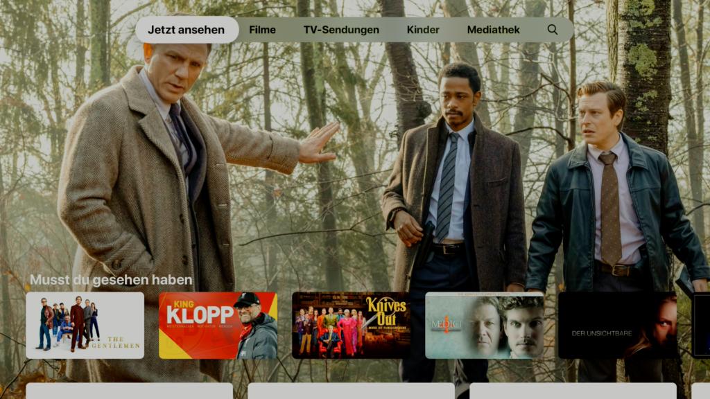 Die Apple TV-App erlaubt die übersichtliche Organisation des eigenen Streaming-Konsums. |Bild: Apple