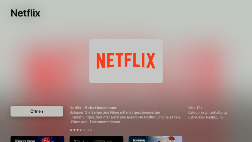 Auch 4K-Inhalte von Netflix lassen sich per Apple TV abrufen. | Bild: Apple