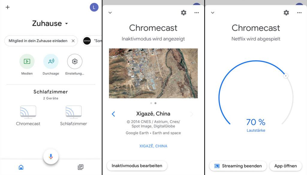 Da der Chromecast nicht über eine Fernbedienung verfügt, steuert man ihn unter anderem mit der Google Home-App. |Bild: HIFI.De
