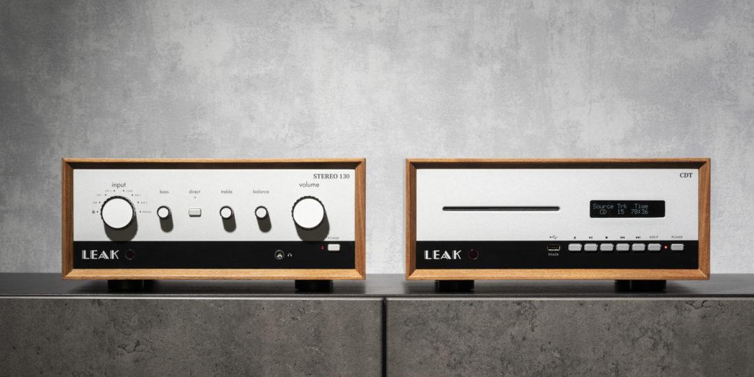 Leak Stereo 130 und CD-Transport CDT in der Frontalansicht.
