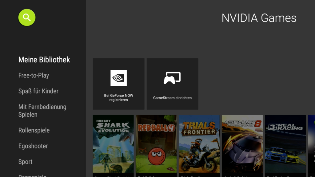 Nvidia Games auf dem Shield TV