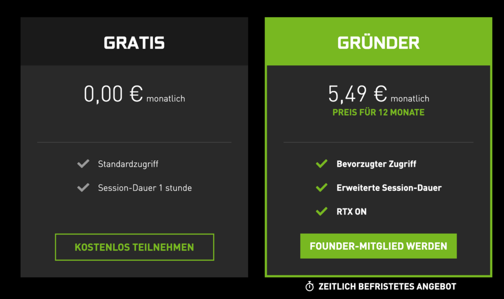 GeForce Now-Abonnements