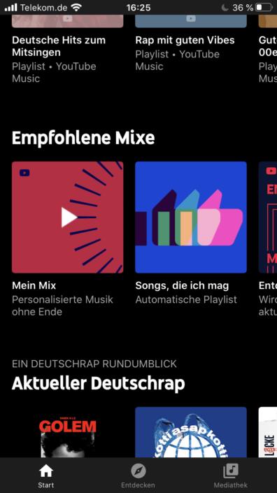 YouTube Music Mixes