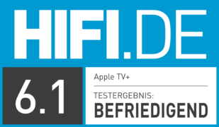 HIFI.DE Testsiegel für Apple TV Plus