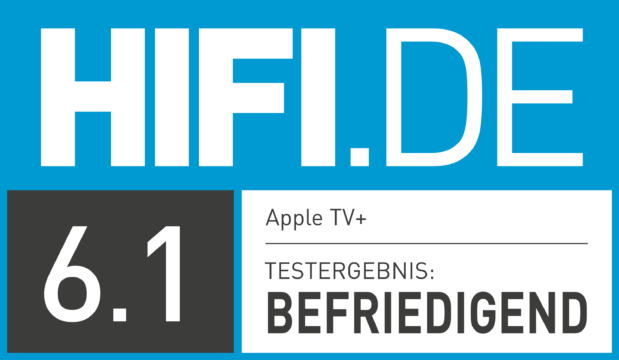 HIFI.DE Testsiegel für Apple TV Plus