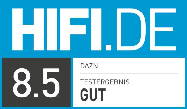 HIFI.DE Testsiegel für DAZN