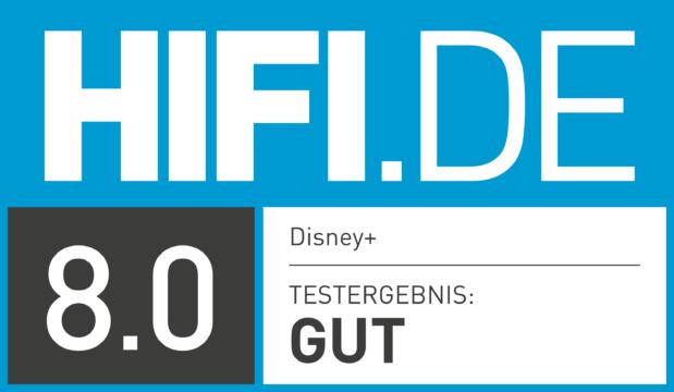 HIFI.DE Testsiegel für Disney Plus