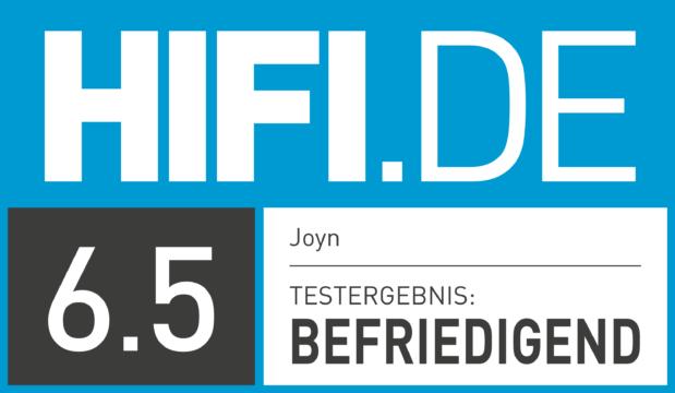 HIFI.DE Testsiegel für Joyn Plus