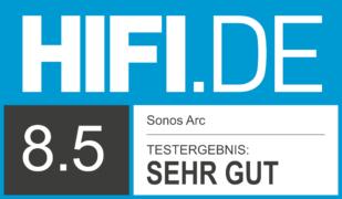 HIFI.DE Testsiegel für Sonos Arc im Test: Dolby Atmos Soundbar aus dem Hause Sonos