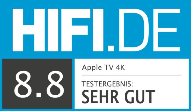 HIFI.DE Testsiegel für Apple TV 4K