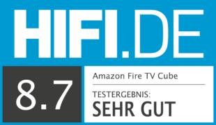 HIFI.DE Testsiegel für Amazon Fire TV Cube