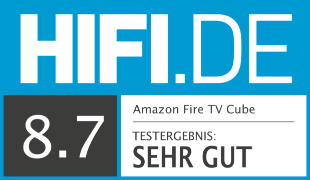 HIFI.DE Testsiegel für Amazon Fire TV Cube