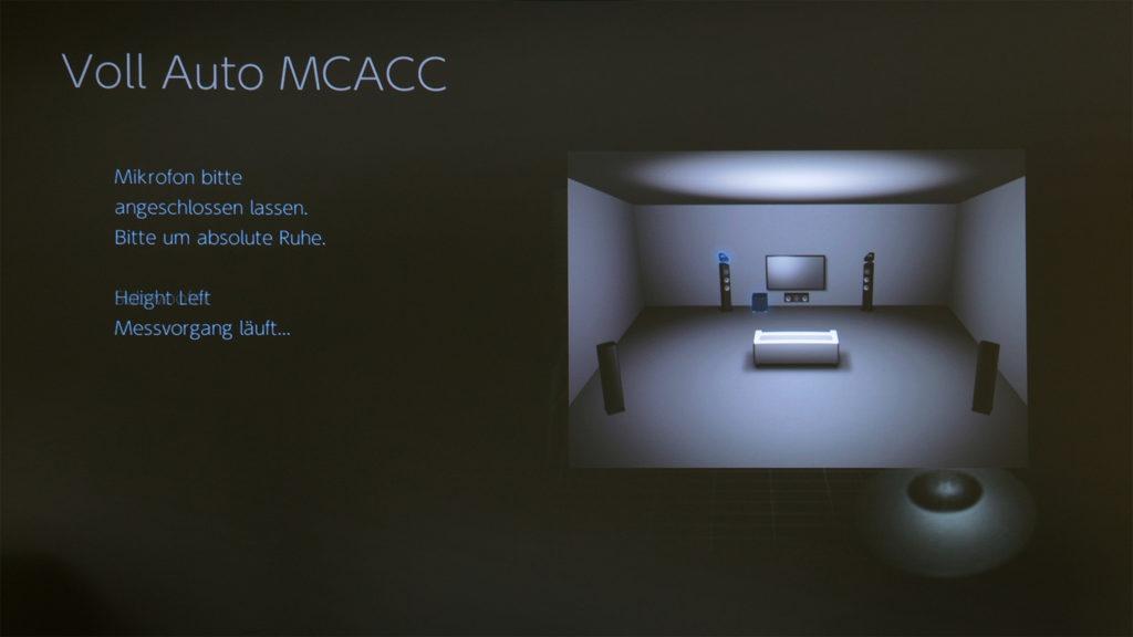 Pioneer VSX-934 - Screenshot Einmessung MCACC