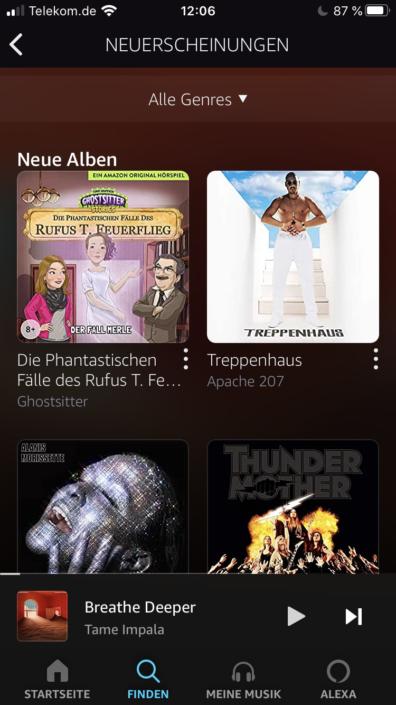 Amazon Music Suche Neuerscheinungen