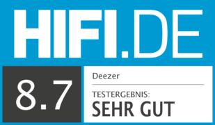 HIFI.DE Testsiegel für Deezer im Test – Was verspricht das HiFi-Angebot?