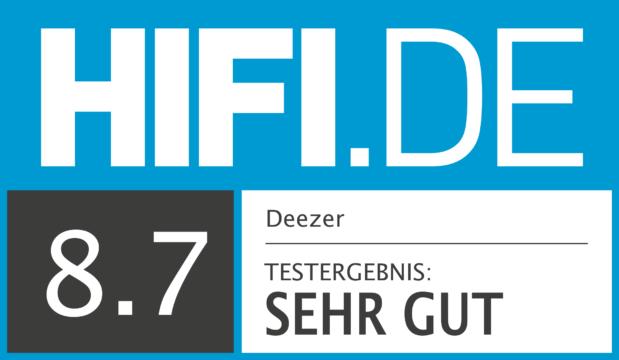 HIFI.DE Testsiegel für Deezer