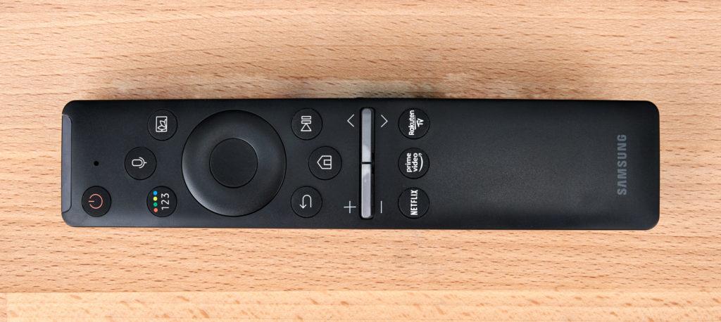 Samsung Q60T Fernbedienung: gewohnt minimalistisch