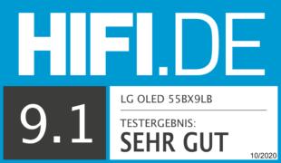 HIFI.DE Testsiegel für LG OLED BX9LB