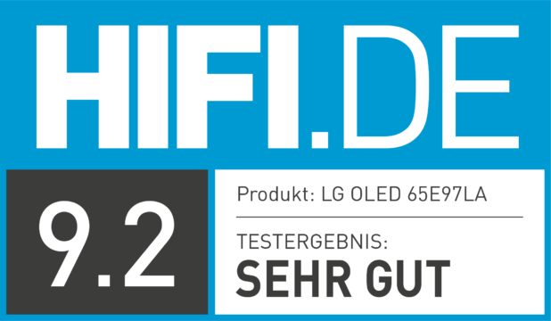 HIFI.DE Testsiegel für LG E9
