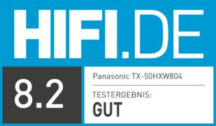 HIFI.DE Testsiegel für Panasonic-TV HXW804 im Test: Lohnt sich der Kauf?