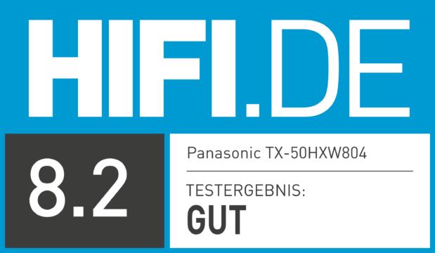 HIFI.DE Testsiegel für Panasonic TX-50GXW804