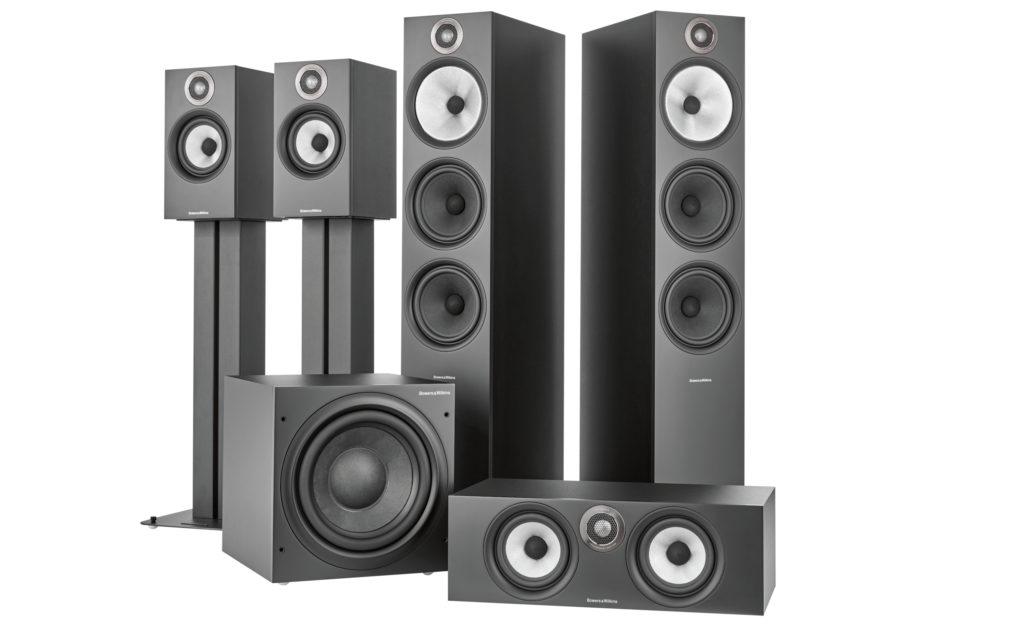 Die Lautsprecher der Serie 600 in Schwarz