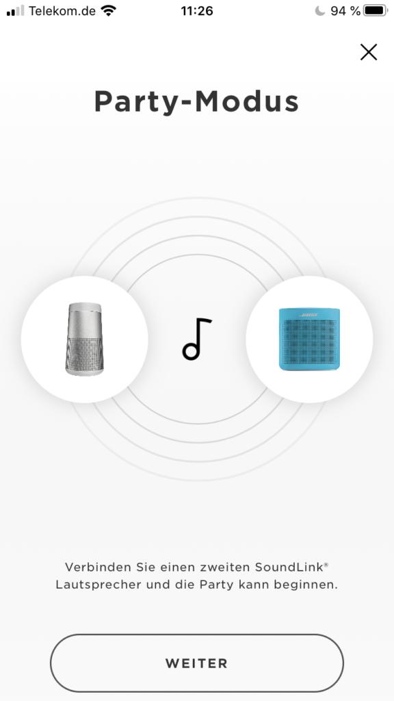 Bose Connect5 App: Party-Modus