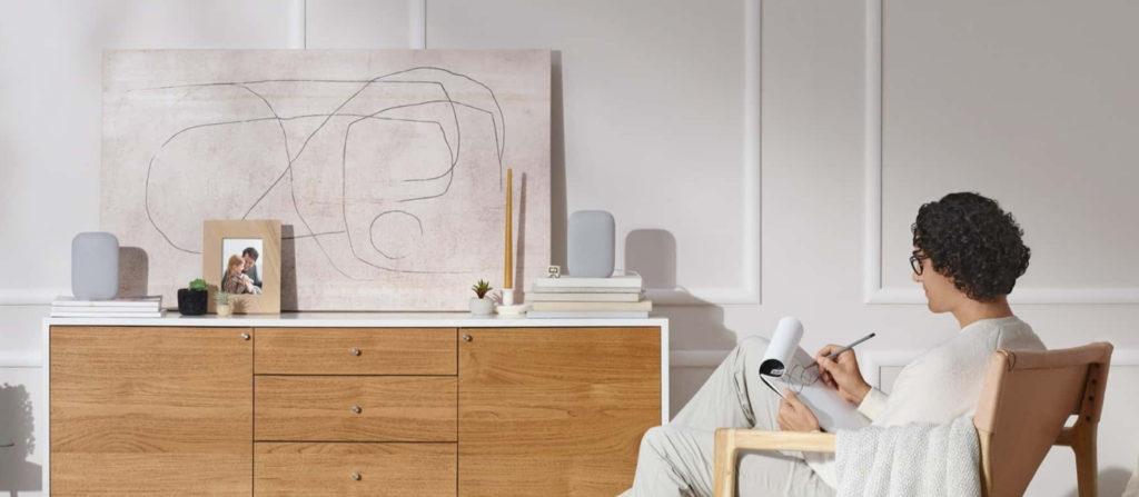 Der Nest Audio lässt sich auch im Multiroom- oder Stereo-Betrieb nutzen.