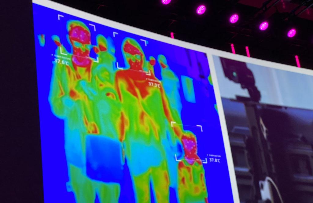 LG Kamera misst Fieber