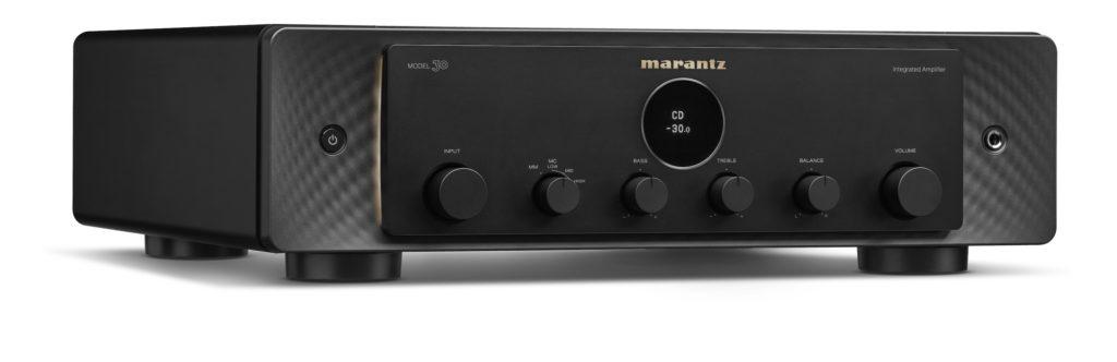 Marantz Model 30 in schwarz schräg von vorne.