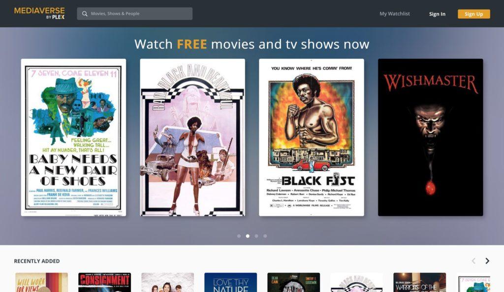 Plex TV Startseite