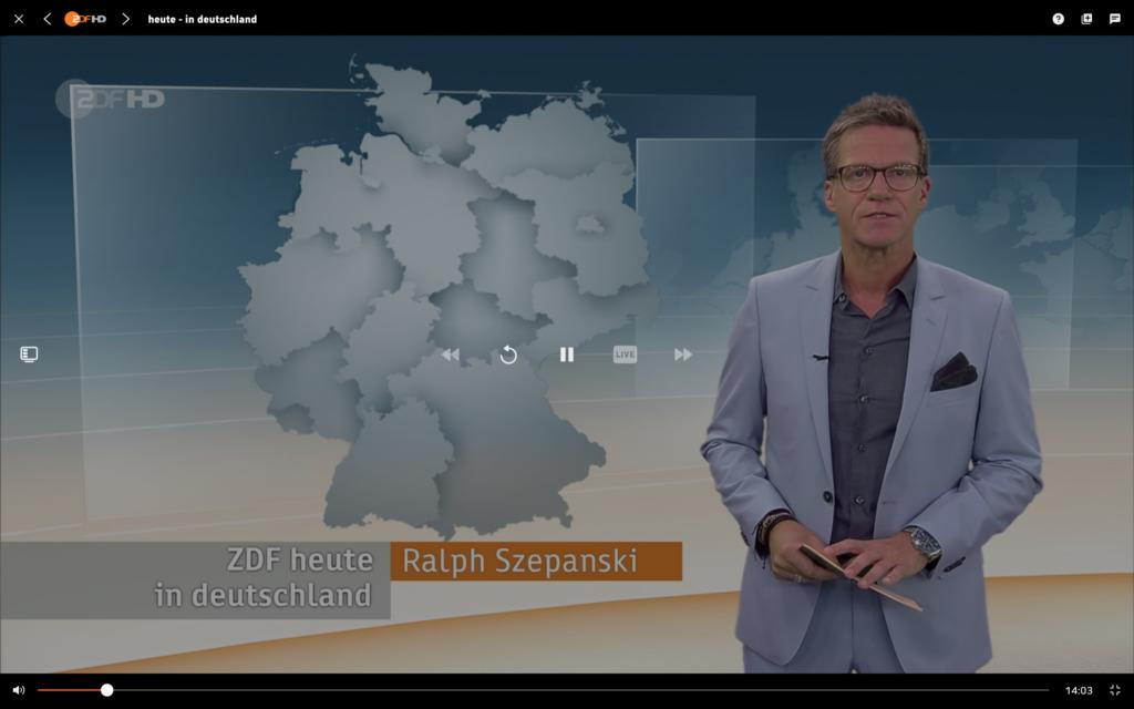 ZDF HD bei Zattoo