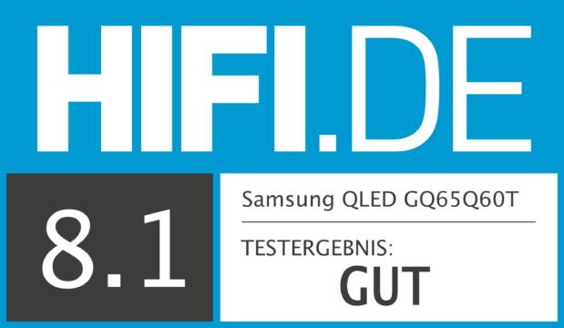 HIFI.DE Testsiegel für Samsung Q60T