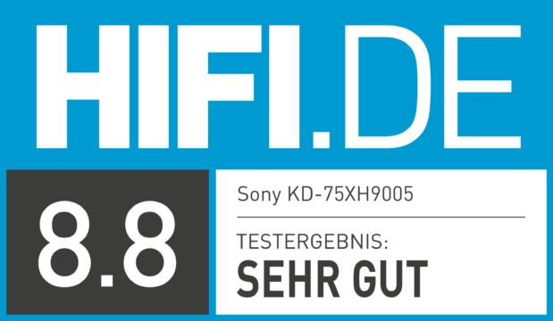 HIFI.DE Testsiegel für KD-75XH9005