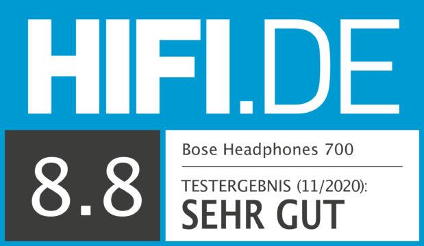 HIFI.DE Testsiegel für Bose Headphones 700